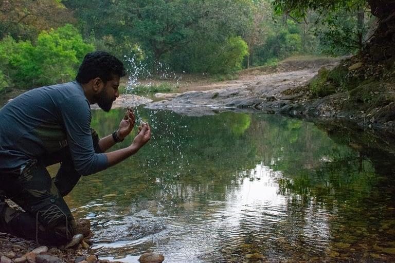 River at Aralam Wildlife Sanctuary